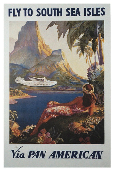 SOUTH SEA ISLES PAN AM POSTAL CARD