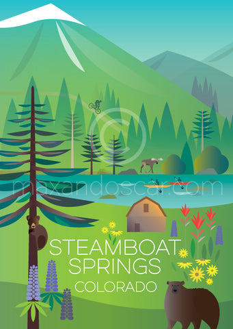 STEAMBOAT SPRINGS (SUMMER) PRINT