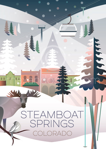 STEAMBOAT SPRINGS (WINTER) PRINT