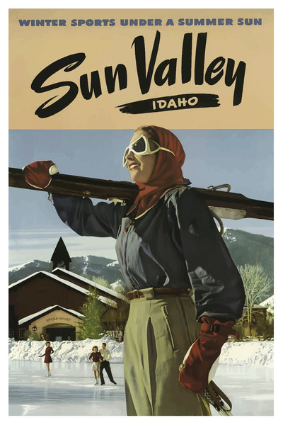 SUN VALLEY POSTAL CARD