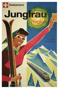 JUNGFRAU SWITZERLAND POSTAL CARD