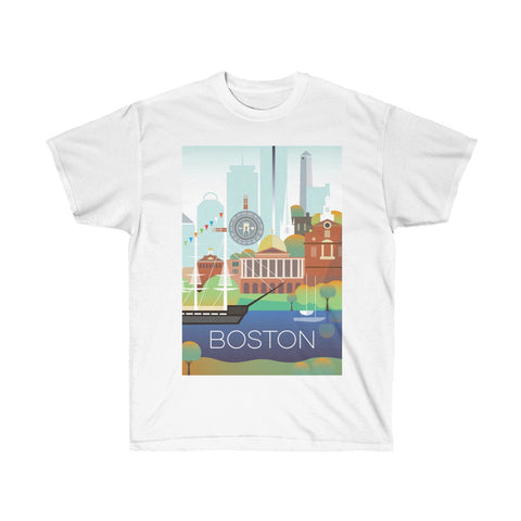 BOSTON UNISEX ULTRA COTTON TEE