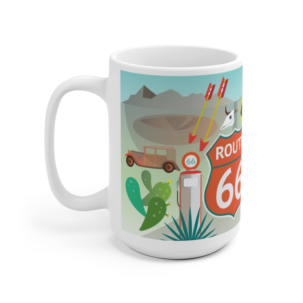 ROUTE 66 15 OZ CERAMIC MUG