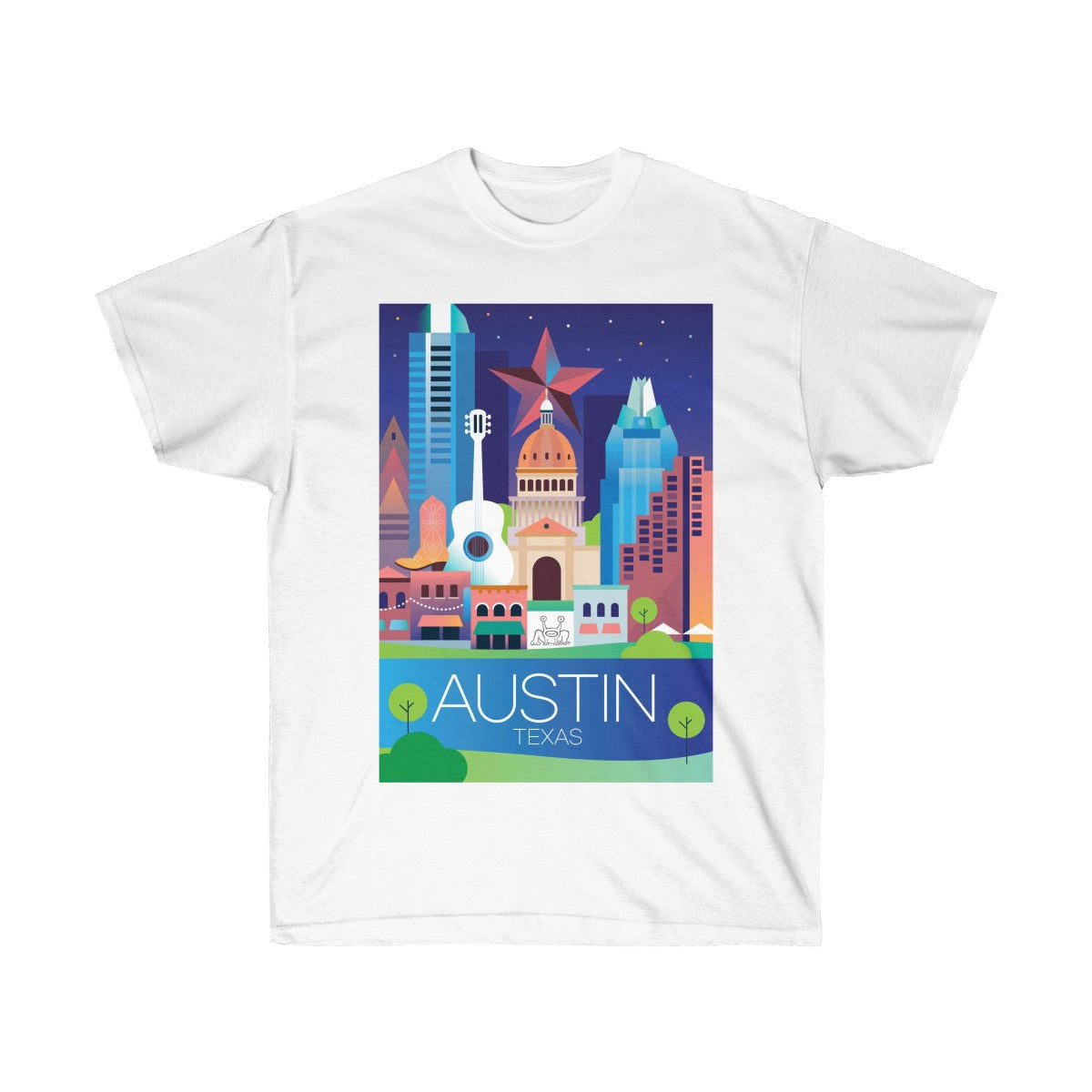 AUSTIN UNISEX ULTRA COTTON TEE