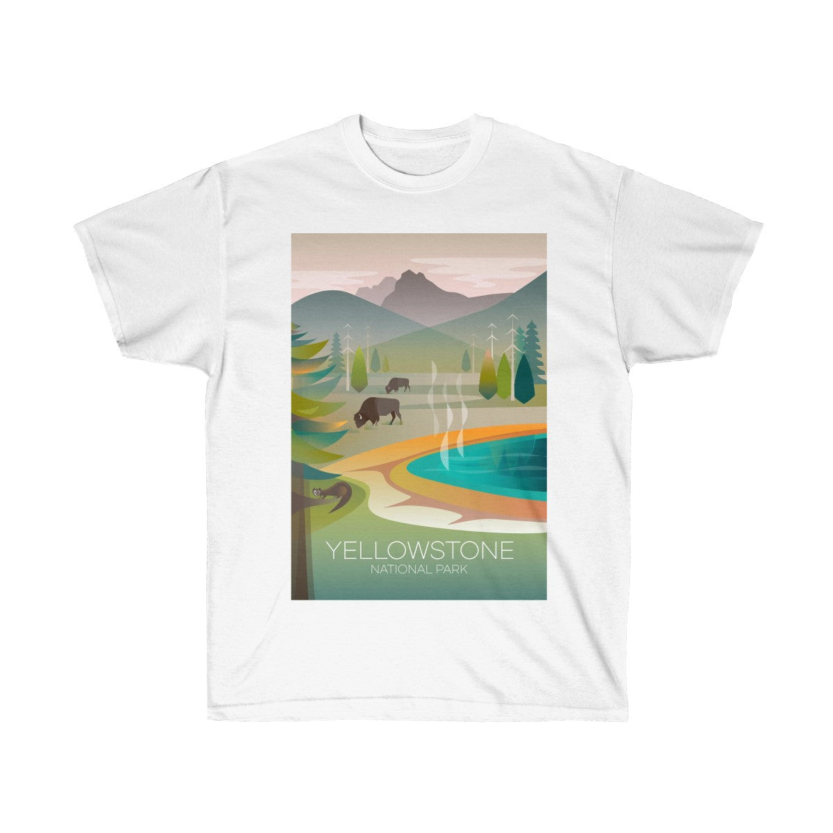 YELLOWSTONE NATIONAL PARK GRAND PRISMATIC UNISEX ULTRA COTTON TEE