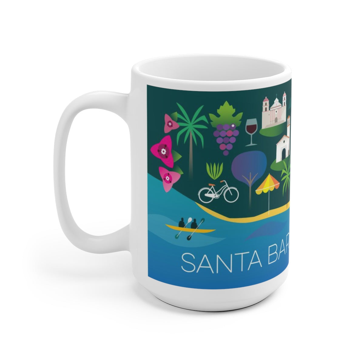 SANTA BARBARA 15 OZ CERAMIC MUG