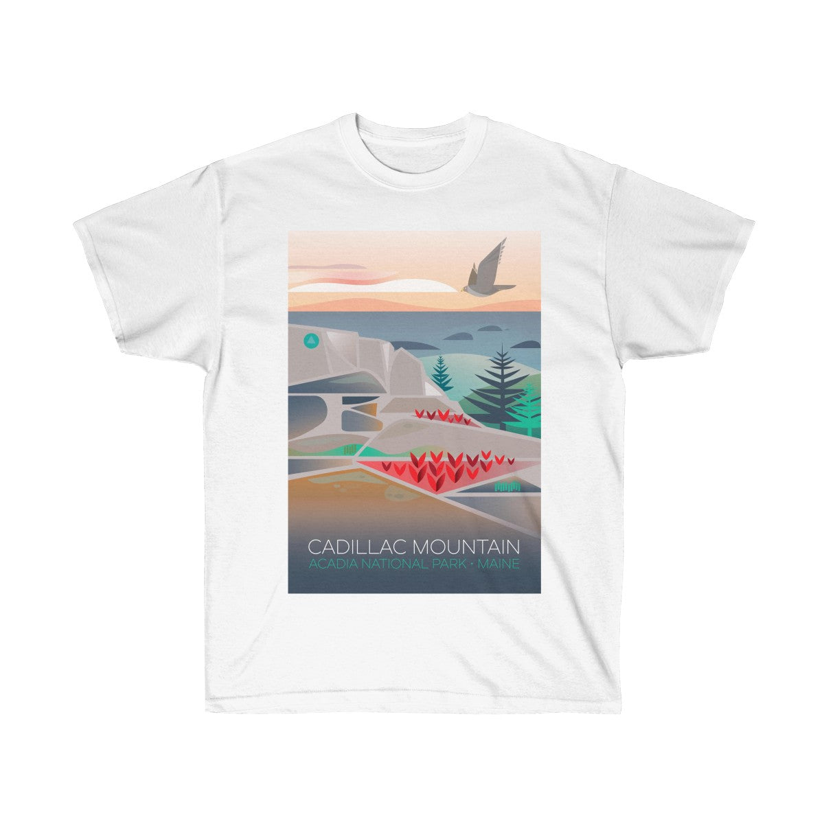 CADILLAC MOUNTAIN UNISEX ULTRA COTTON TEE