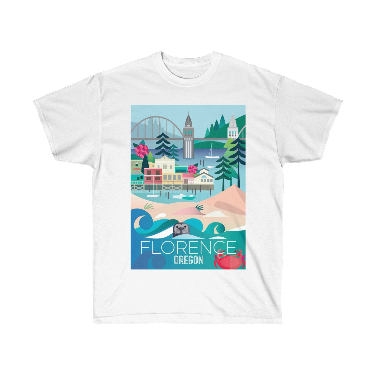 FLORENCE, OREGON UNISEX ULTRA COTTON TEE