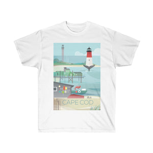 CAPE COD UNISEX ULTRA COTTON TEE