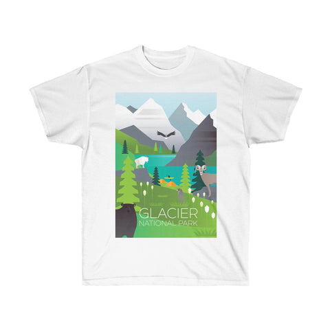 GLACIER NATIONAL PARK UNISEX ULTRA COTTON TEE