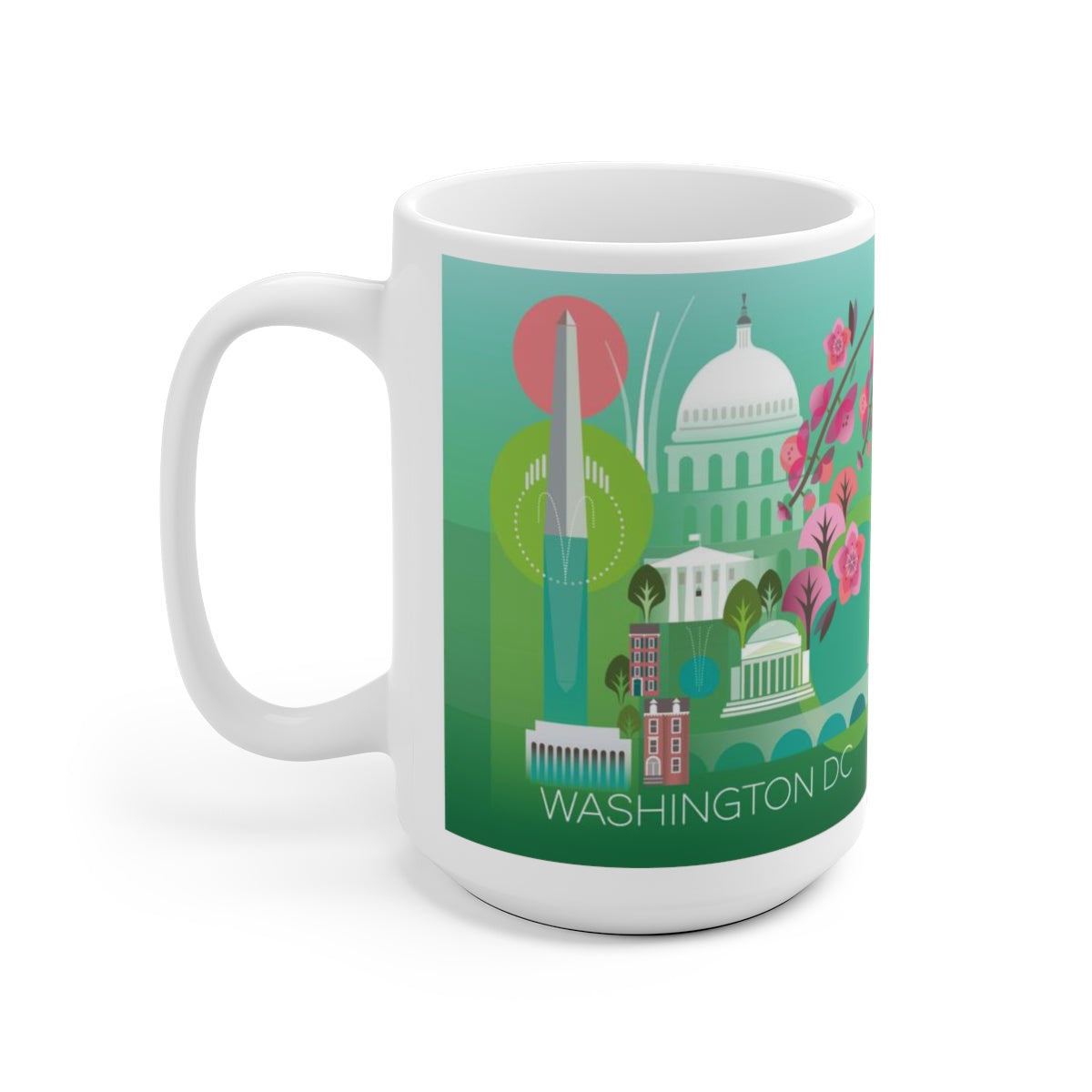 WASHINGTON, DC 15 OZ CERAMIC MUG