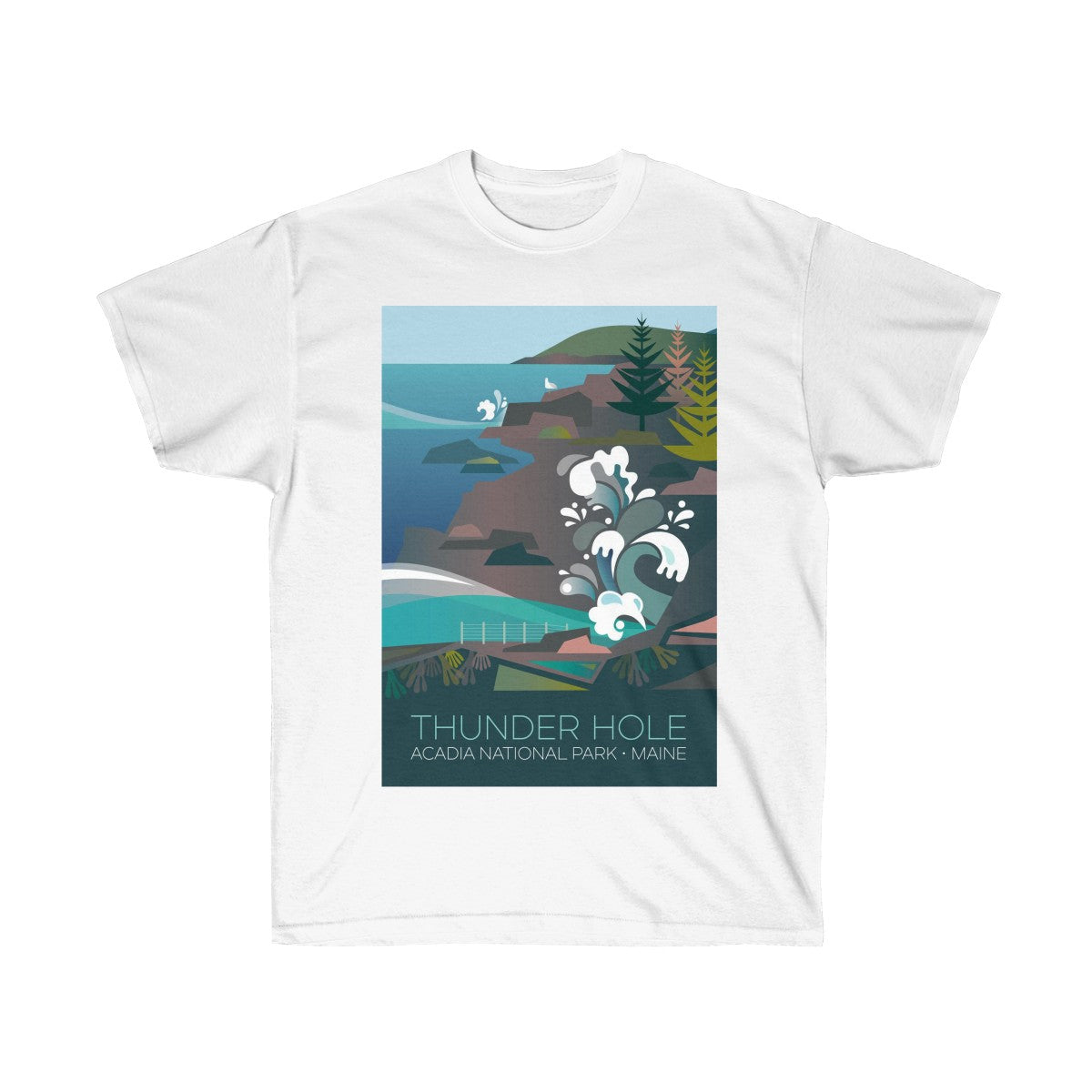 ACADIA NATIONAL PARK, THUNDER HOLE UNISEX ULTRA COTTON TEE