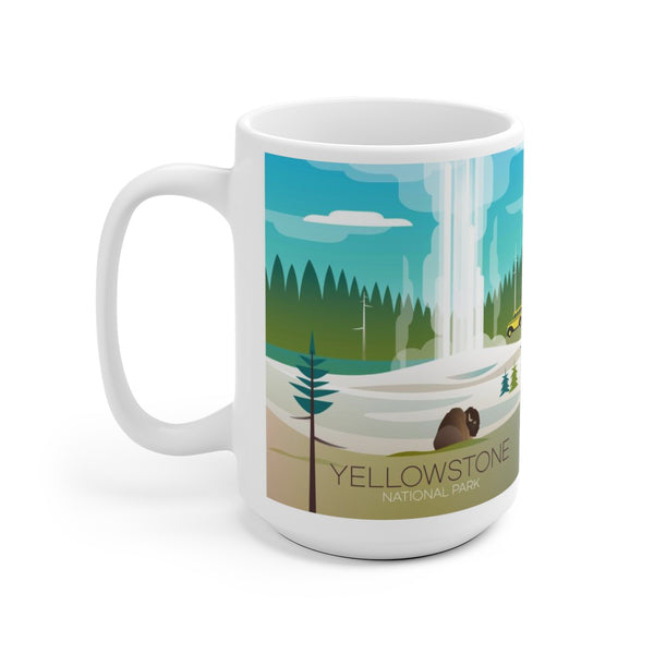 YELLOWSTONE NATIONAL PARK OLD FAITHFUL 15 OZ CERAMIC MUG
