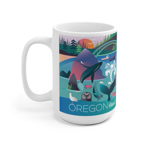 OREGON COAST 15 OZ CERAMIC MUG