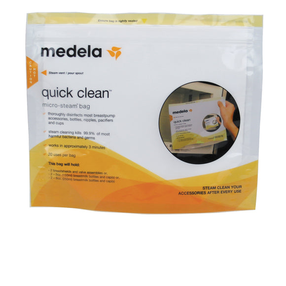 Medela Quick Clean Micro Steam Bags, Breast Pump Cleaning, Milliken Medical - ATP Resources