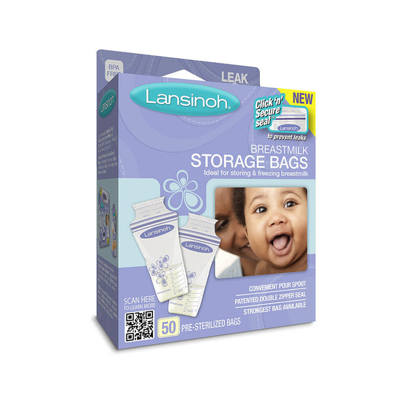 Lansinoh Breastmilk Storage Bags, 50 Count, Breast Pump Storage, Milliken Medical - ATP Resources