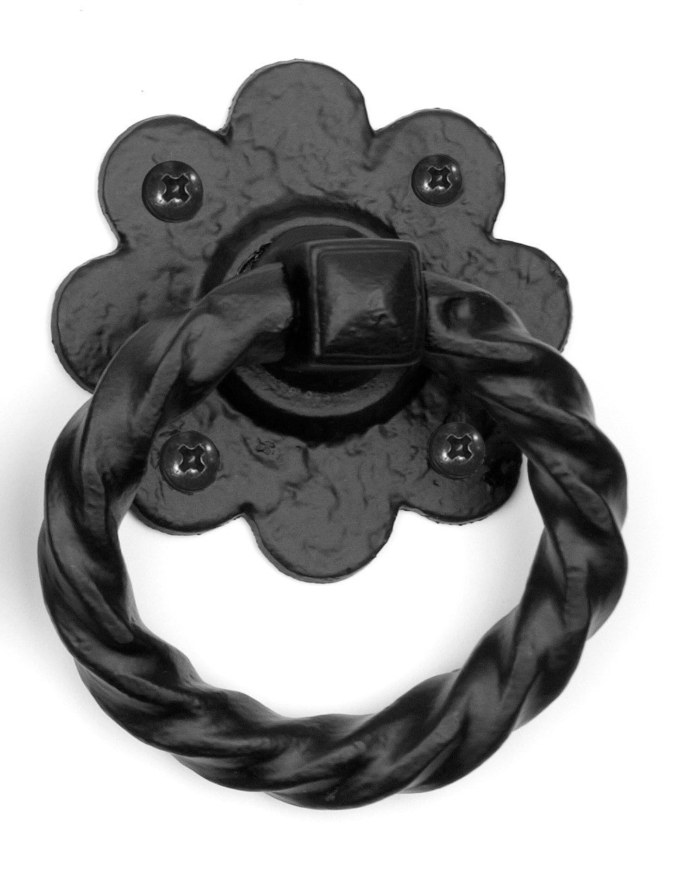 Floral Ring Handle 4''  | Hardware