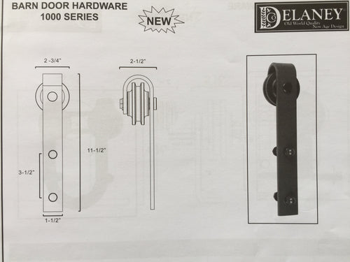 1000 Series Barn Door Hardware Kit