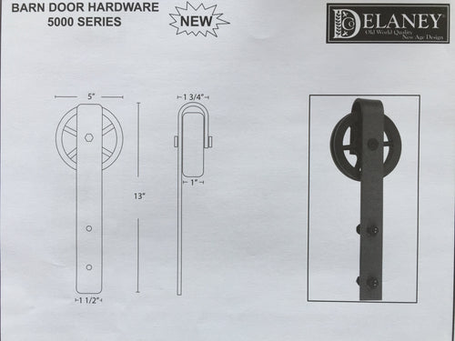 5000 Series Barn Door Hardware Kit