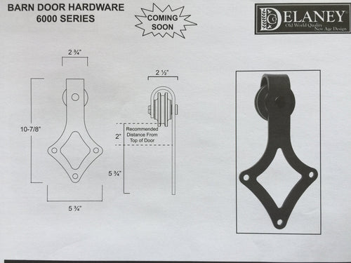 6000 Series Barn Door Hardware Kit