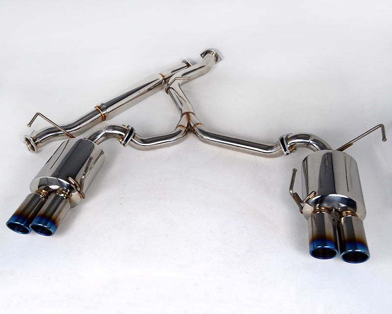 Agency Power Catback Exhaust System Titanium Quad Tips Subaru WRX/STi Sedan 2011-16