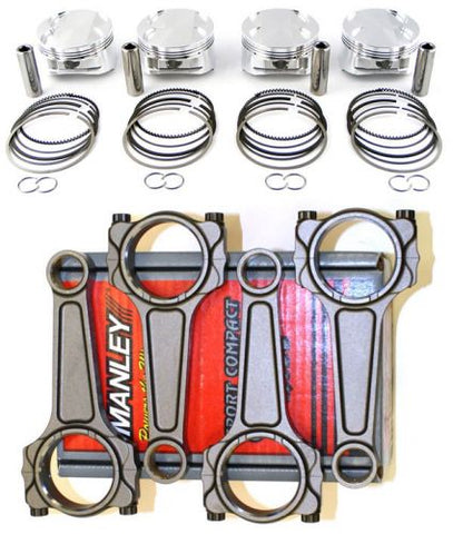 JE PISTONS 86.5MM 10.0:1 PISTONS AND MANLEY K20 TURBO TUFF RODS