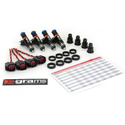 Grams 1000cc Injectors with Free Fuel Pressure Gauge
