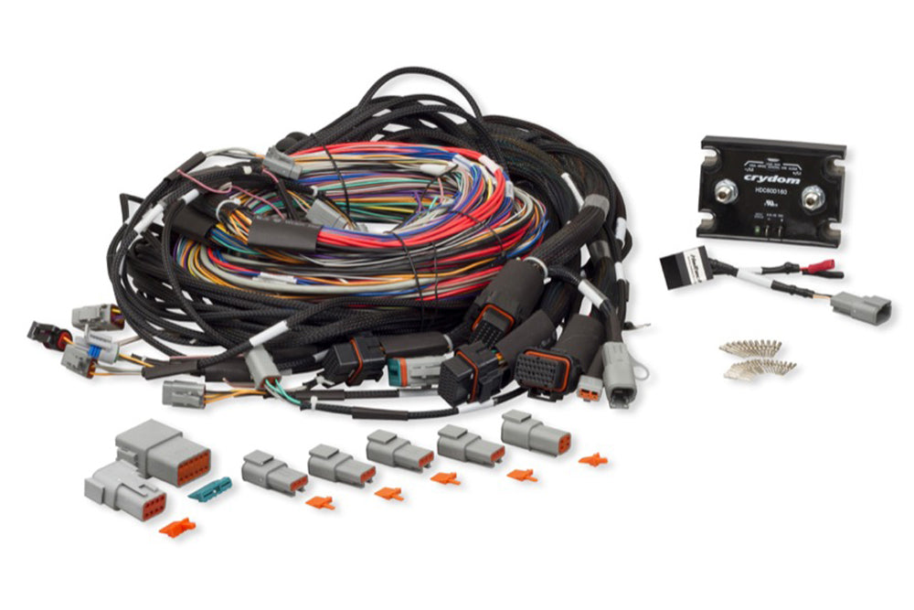 Elite 2500 & Race Expansion Module (REM) 16 Injector Universal Integrated Wire-in Harness Length: 2.5m (8')