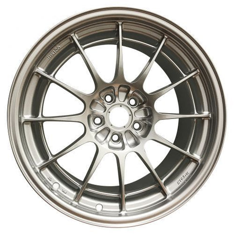 Enkei NT03+M 18x9.5 5x108 40mm F1 Silver Wheels set of 4 with Dunlop Direzza DZ102 245/45/18