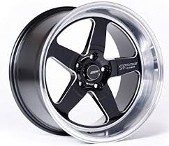 Cosmis Racing XT005R 18x9 +25, 18x10 +20, 5x120, Black w/ Machined Lip (set of 4)