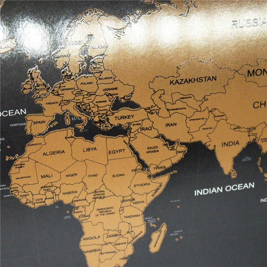 world map scratch off travel world map