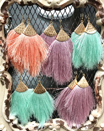 Fringe Spring Earrings - Southern Sins Boutique