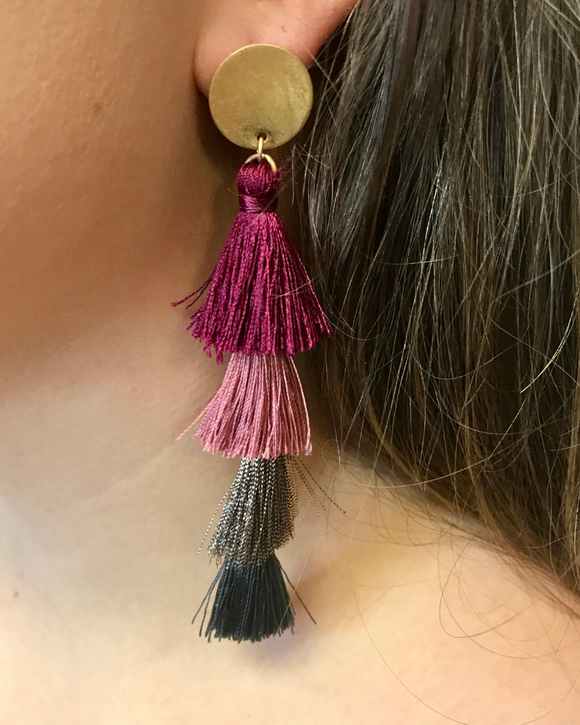 Multi Layered Tassel Earrings - Southern Sins Boutique
