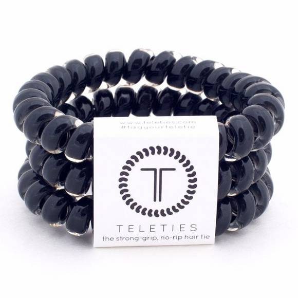 Jet Black Large Teleties - Southern Sins Boutique