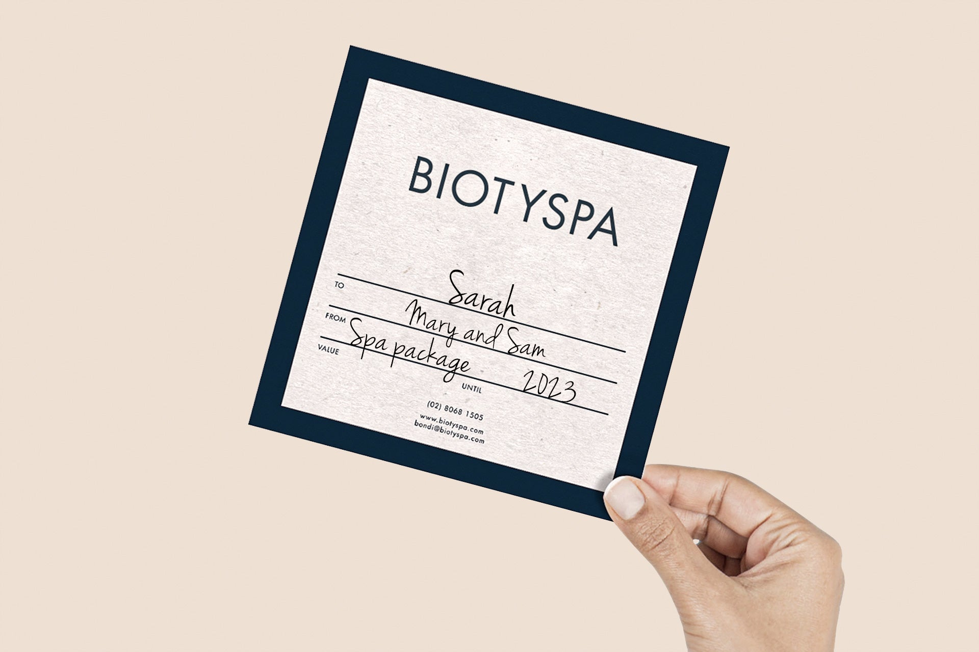 biotyspa spa gift card