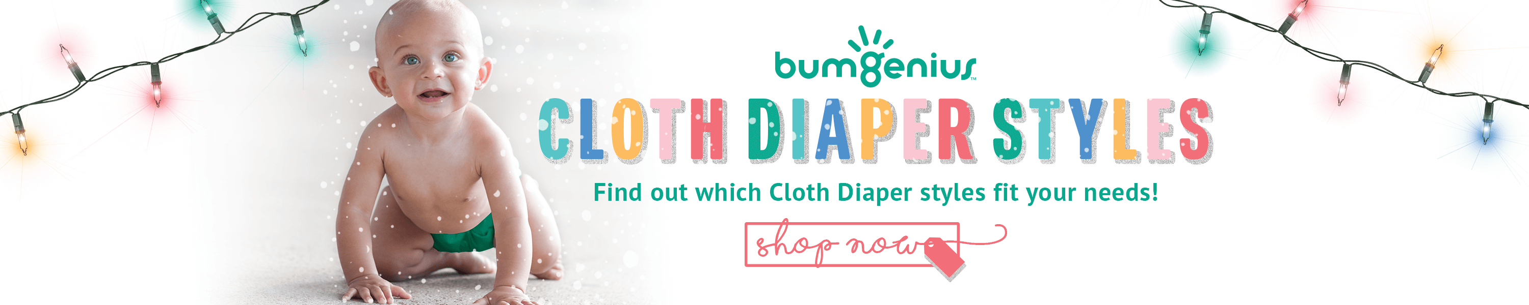 bumGenius has many cloth diaper styles to accommodate your baby's diaper needs