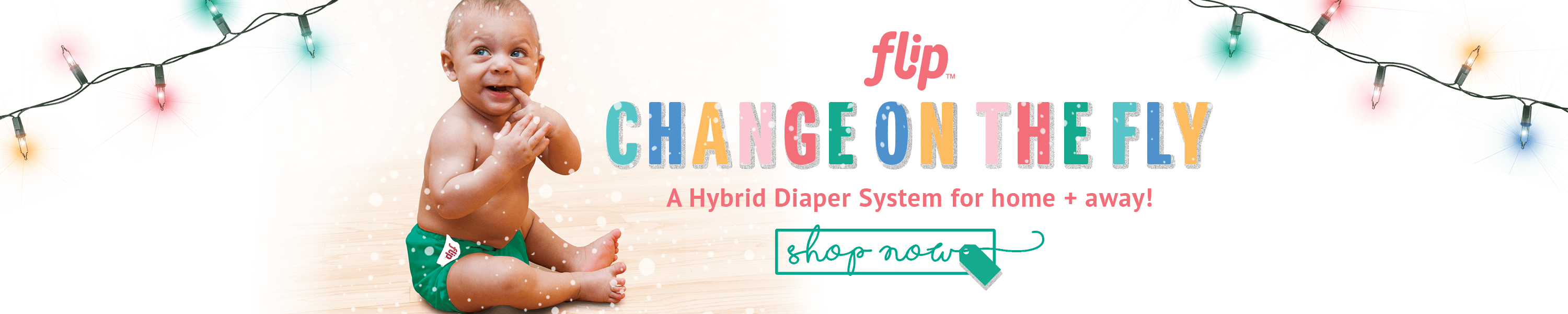 The Flip Hybrid Cloth Diaper System is perfect for families that are on the go. This system includes a one-size diaper cover and a variety of insert choices for your family's changing needs.