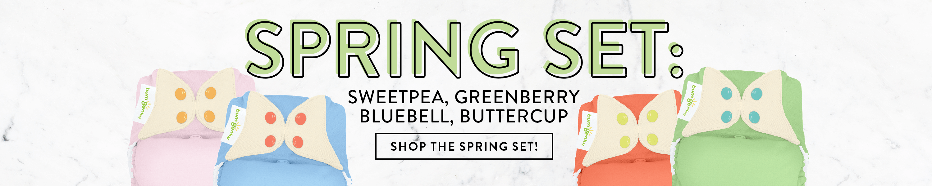 Shop the bumGenius Freetime Spring Set  this special edition is available in 4 different options