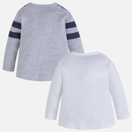 Mayoral Winter 2017/2018 Baby Boy Set of Two Long Sleeve T-Shirts - Ice