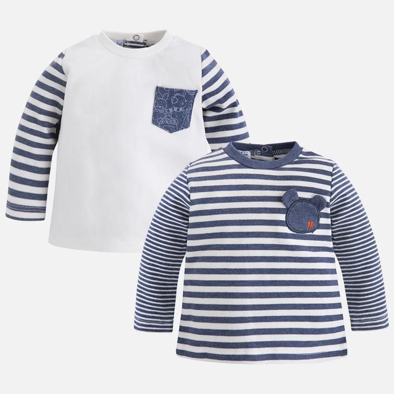 3e073dfd10ff Mayoral Winter 2017 2018 Baby boy set of two t-shirt with long ...