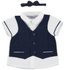 Mayoral  Shirt with Vest and Bowtie - Deep Blue