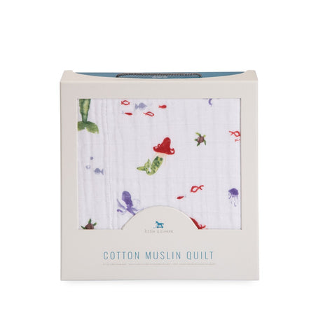 Little Unicorn Cotton Muslin Quilt - Mermaid