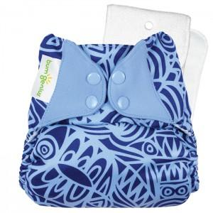 bumGenius 4.0 One-Size Stay-Dry Cloth Diaper - Jet Setter
