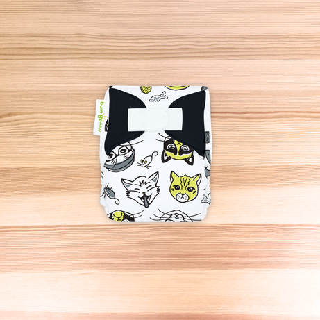 bumGenius Littles™ 1.0 - Newborn Cloth Diaper - The Doodles Collection SINGLES