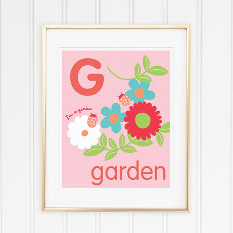 Genius Series Art Print - Letter G