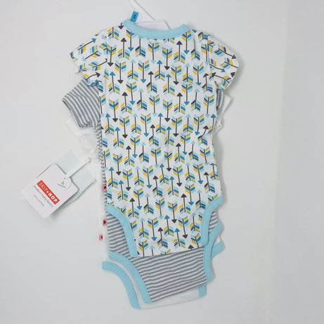 Skip Hop Boho Feather Layette - Side Snap Short Sleeve Bodysuits