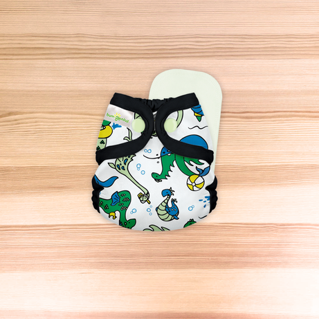 bumGenius Littles™ 2.0 - Newborn Cloth Diaper - The Doodles Collection SINGLES