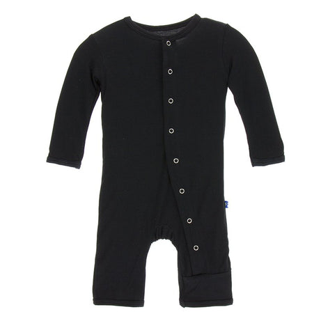 KicKee Pants Basic Coverall with Snaps - Midnight