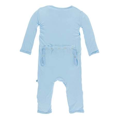 KicKee Pants Basic Coverall with Snaps - Pond