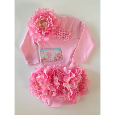 Rachel's Wardrobe Flower Fannies - Long Sleeve Bodysuit with Headband